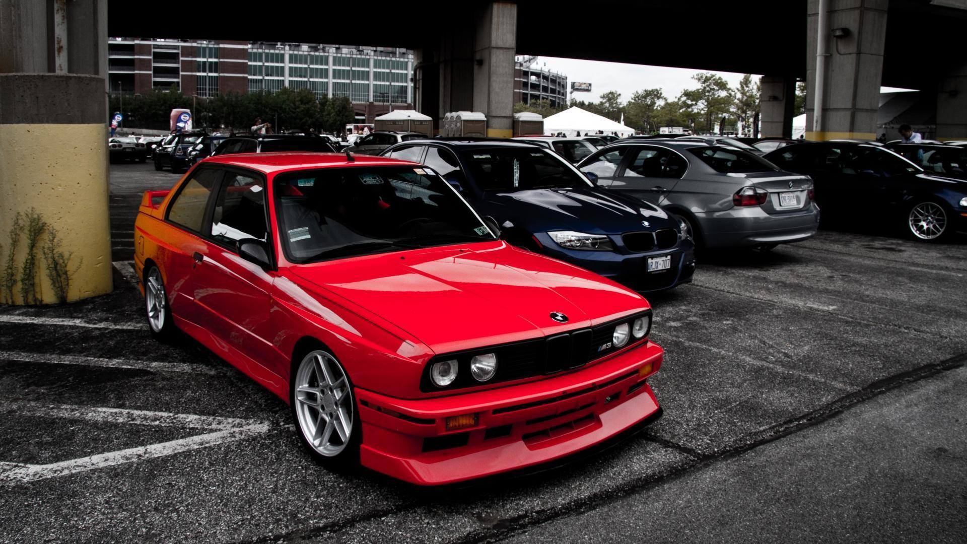 Bmw e30 m power red wallpapers