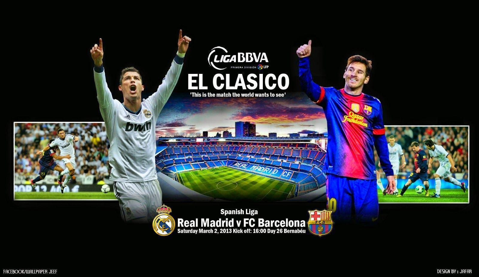 Barcelona Vs Real Madrid Wallpapers Wallpaper Cave