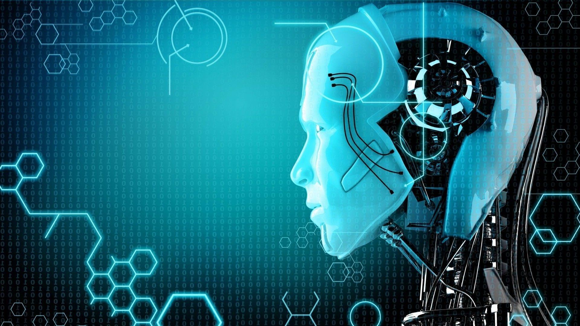 Download HD face, Portrait, Digital Art, Robot, Artificial .