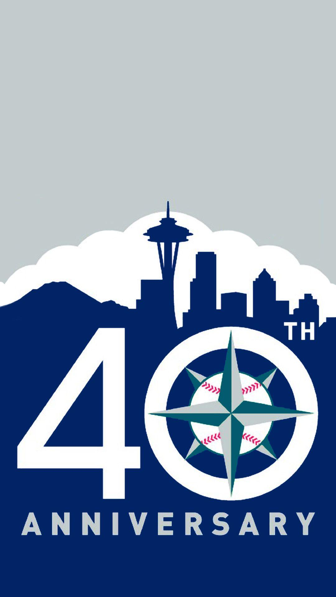 Seattle Mariners 40th Anniversary iPhone Wallpapers