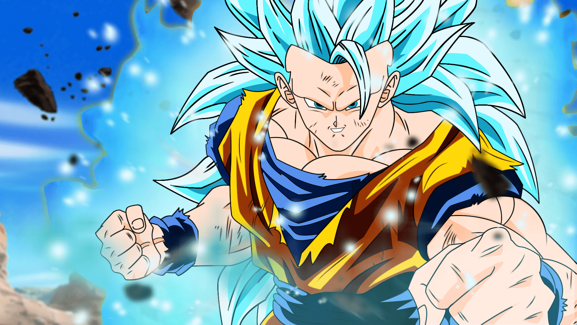 Vegetto SSJ BLUE Wallpapers by DesertWiggle
