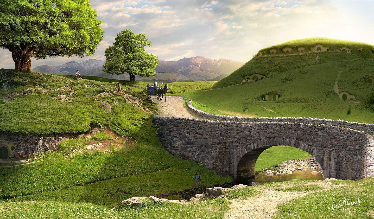 Новая зеландия Hd: The Shire Wallpapers