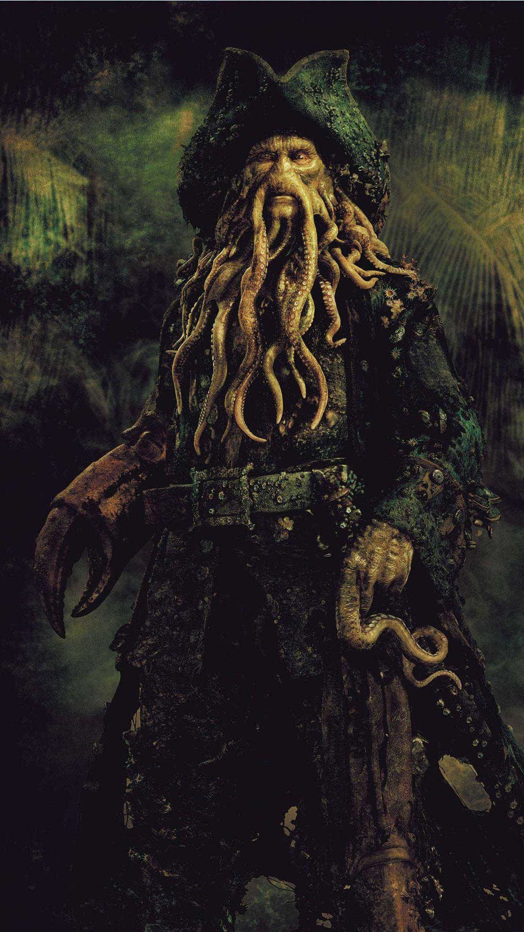 Davy Jones - Pirates of the Caribbean Mobile Wallpaper 10754