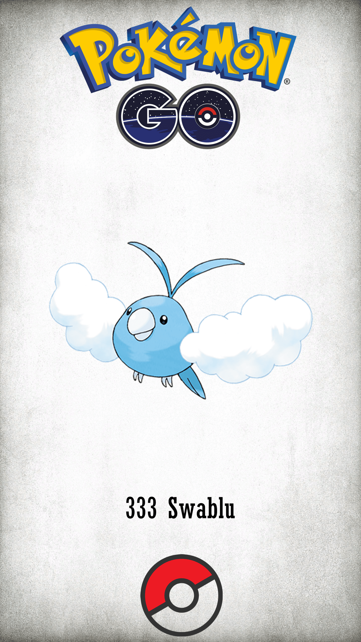 333 Character Swablu | Wallpaper