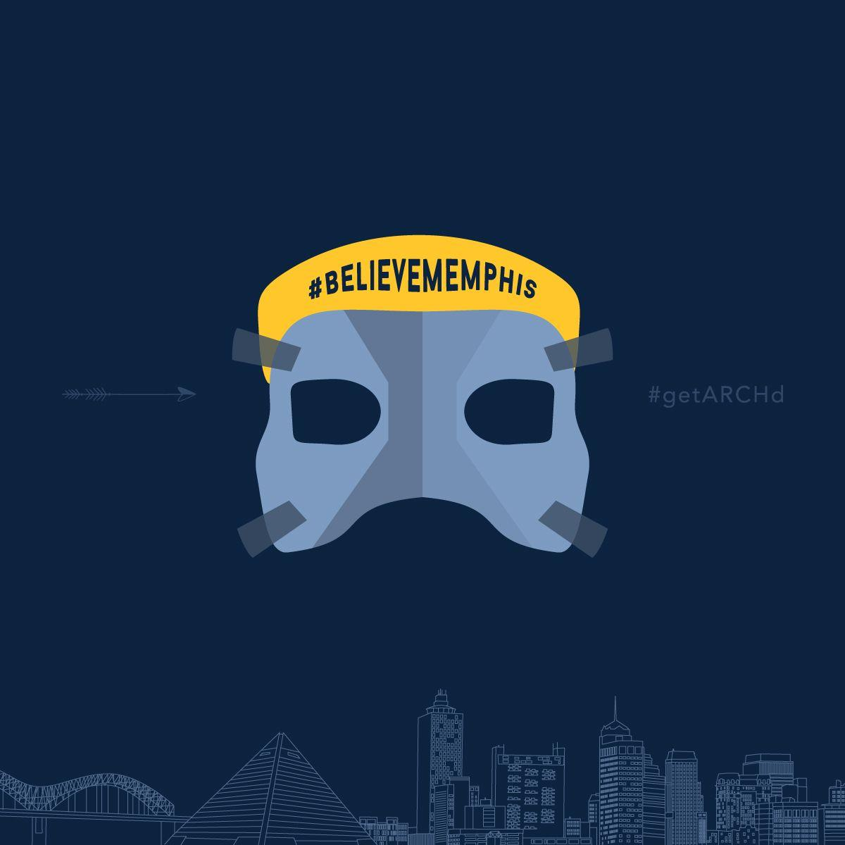 Memphis Grizzlies Mike Conley mask, Believe Memphis, shareable ...