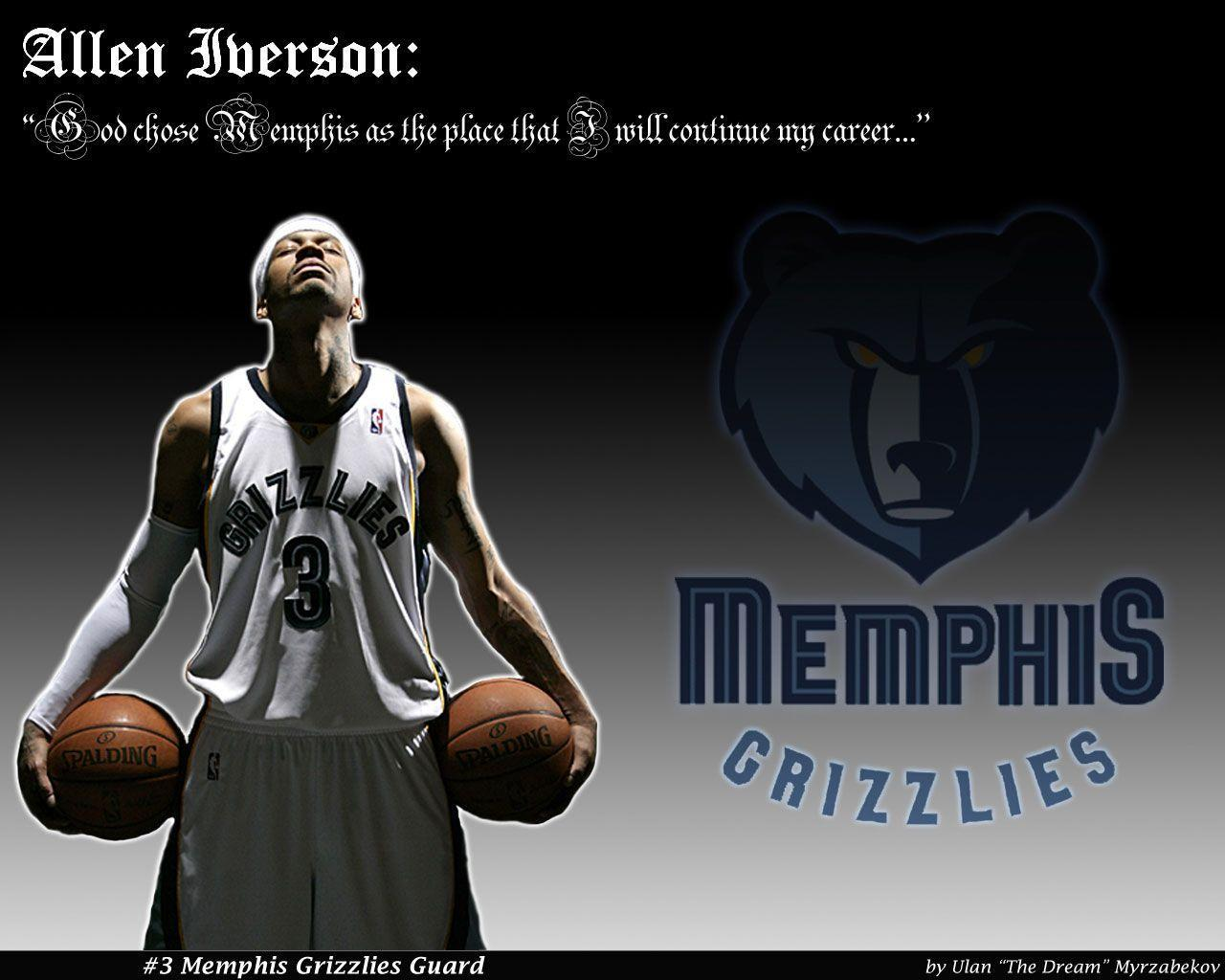 Allen Iverson Memphis Grizzlies Wallpaper | Basketball Wallpapers ...