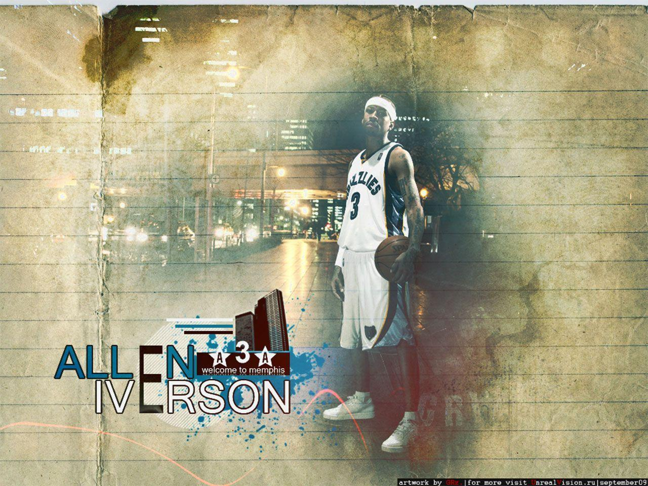 Allen Iverson Grizzlies 1280×960 Wallpaper | Basketball Wallpapers ...