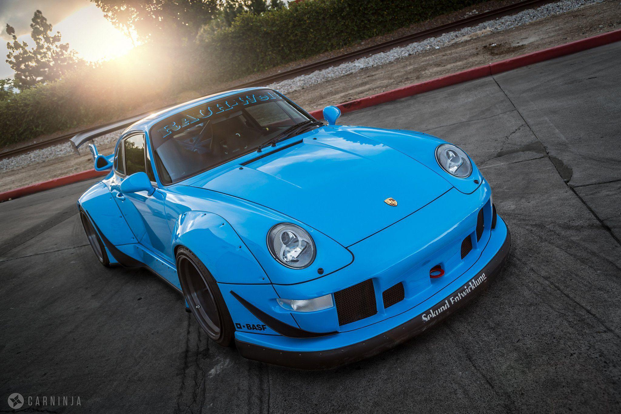 RWB Porsche 993 coupe cars body kit tuning wallpapers