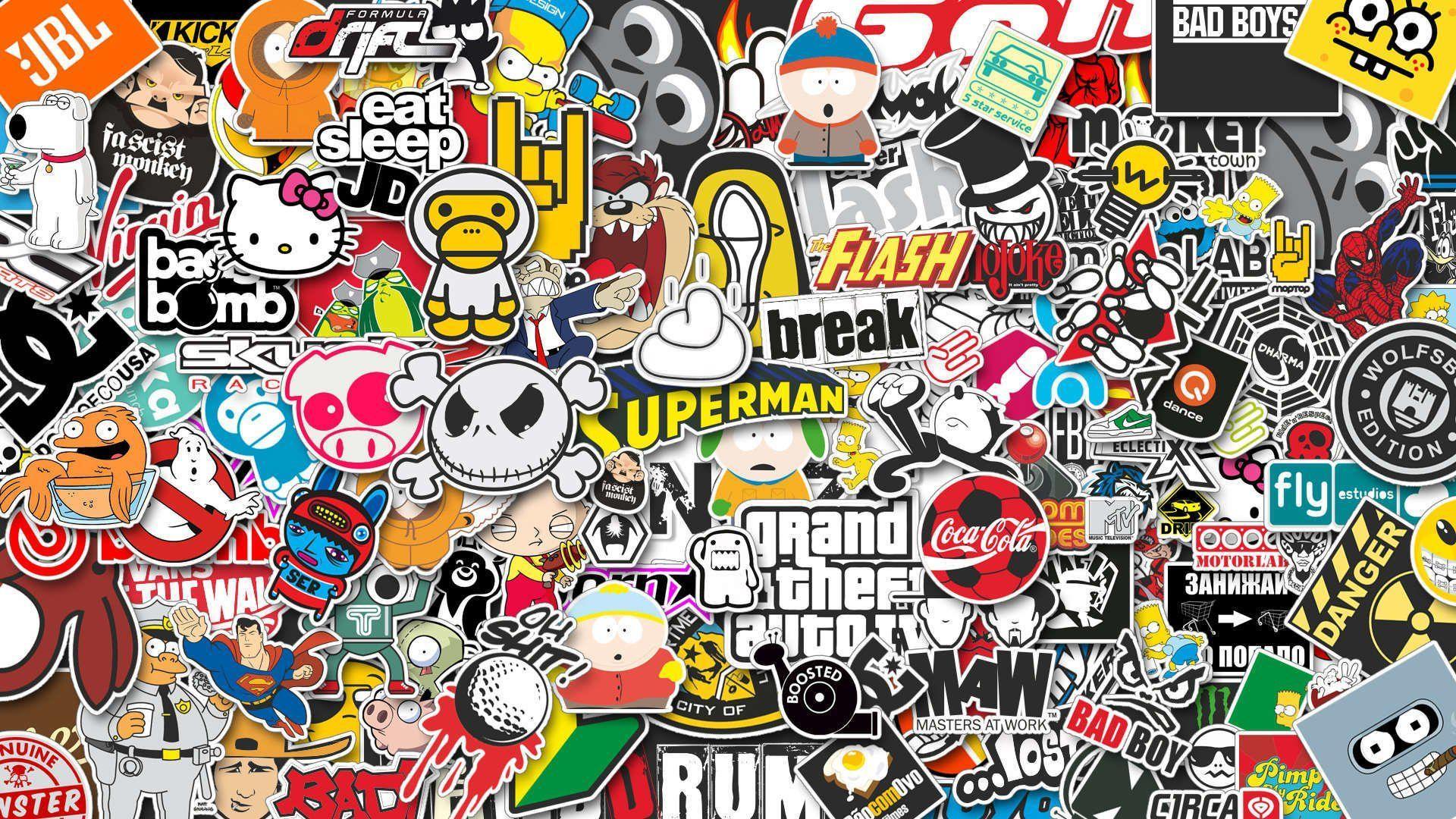 10 Sticker Bomb HD Wallpapers