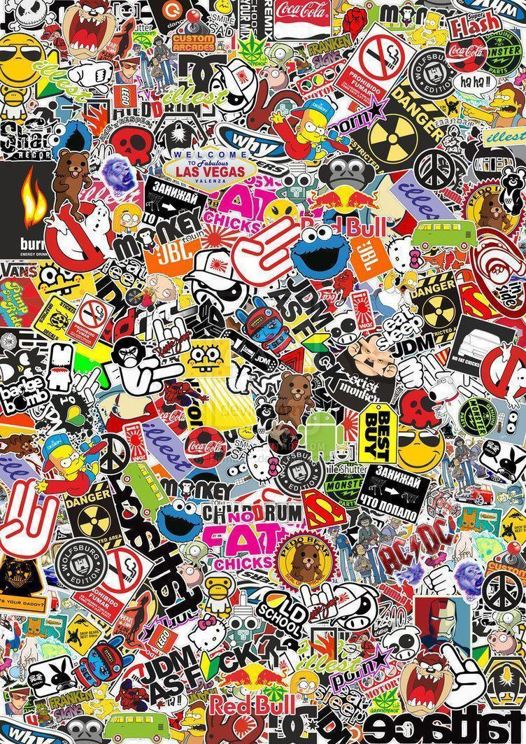Sticker bomb hd wallpaper 1080p resolution char pinterest