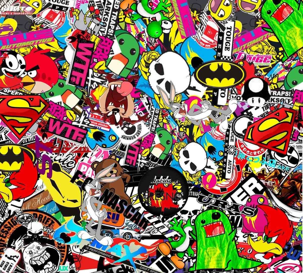 Wallpaper Decal: Stickerbomb Wallpapers