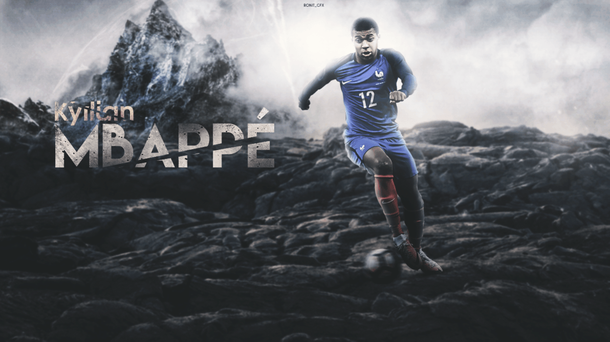 Kylian Mbappe 2017 Wallpapers by RonitGFX