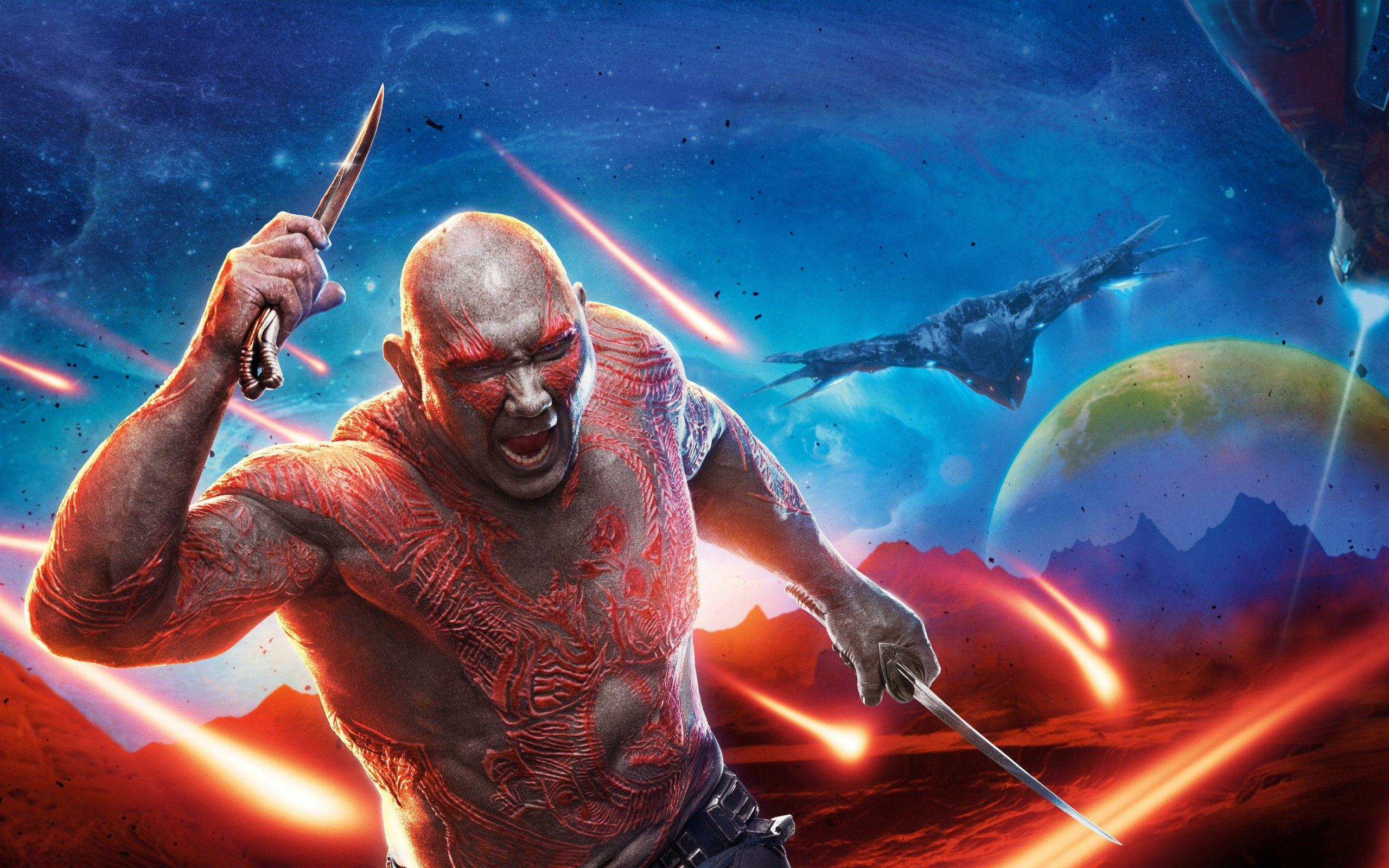 Wallpapers Drax the Destroyer, Dave Bautista, Guardians of the