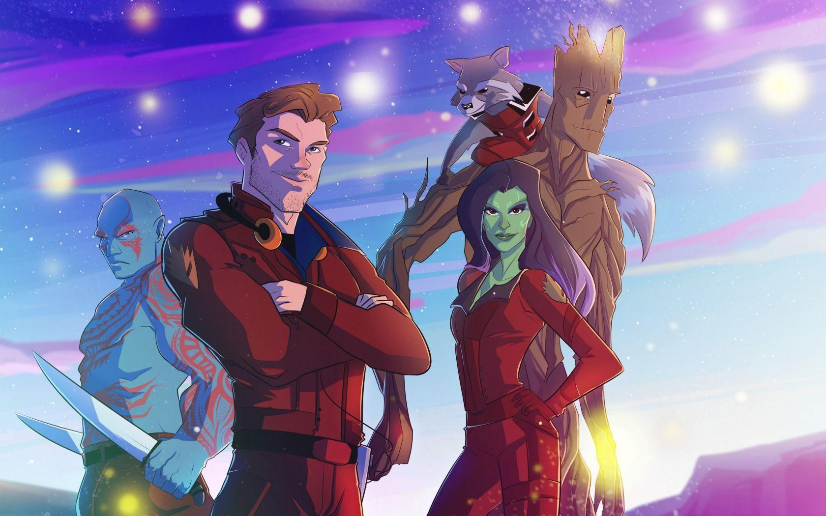 Wallpapers Guardians of the galaxy, Logo, Marvel, Star