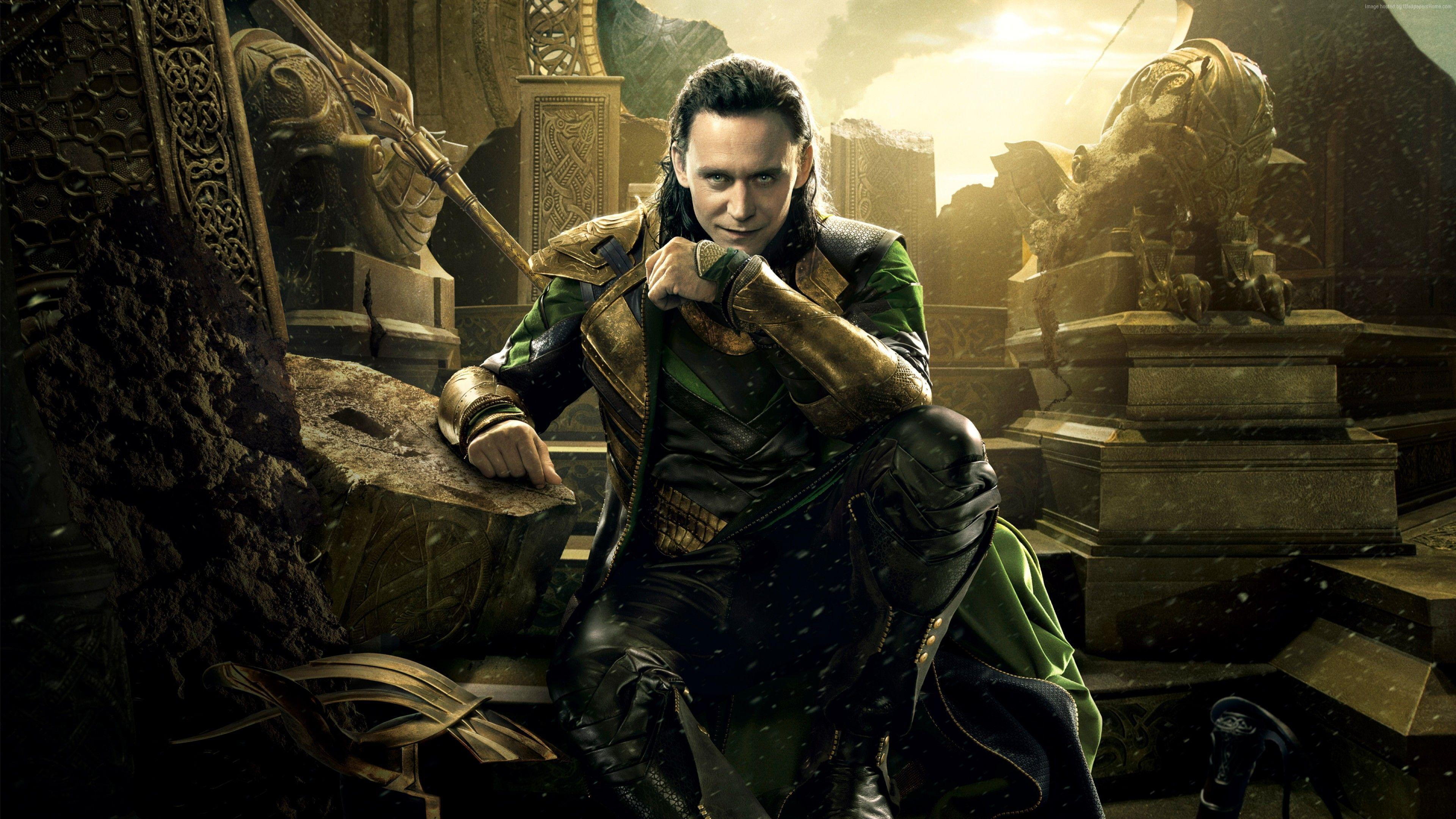 Actor Tom Hiddleston character Loki in the movie Thor. Ragnarok ...