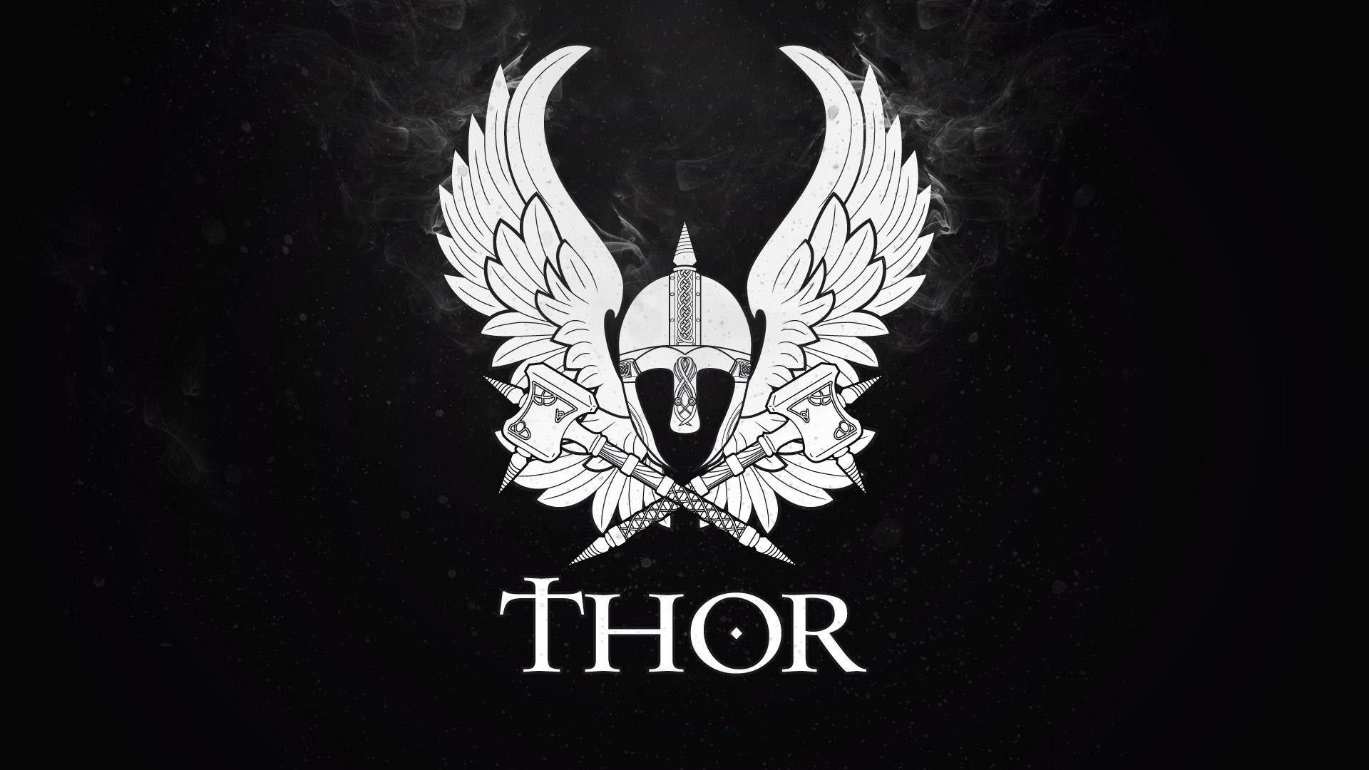 Thor logo wallpapers wallpaper cave - Thor hammer hd pics ...