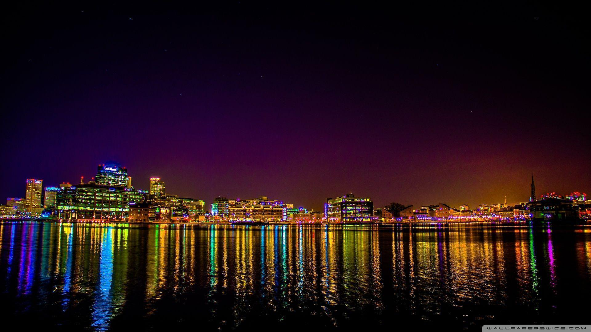 Baltimore From Tide Point HD desktop wallpaper : High Definition ...