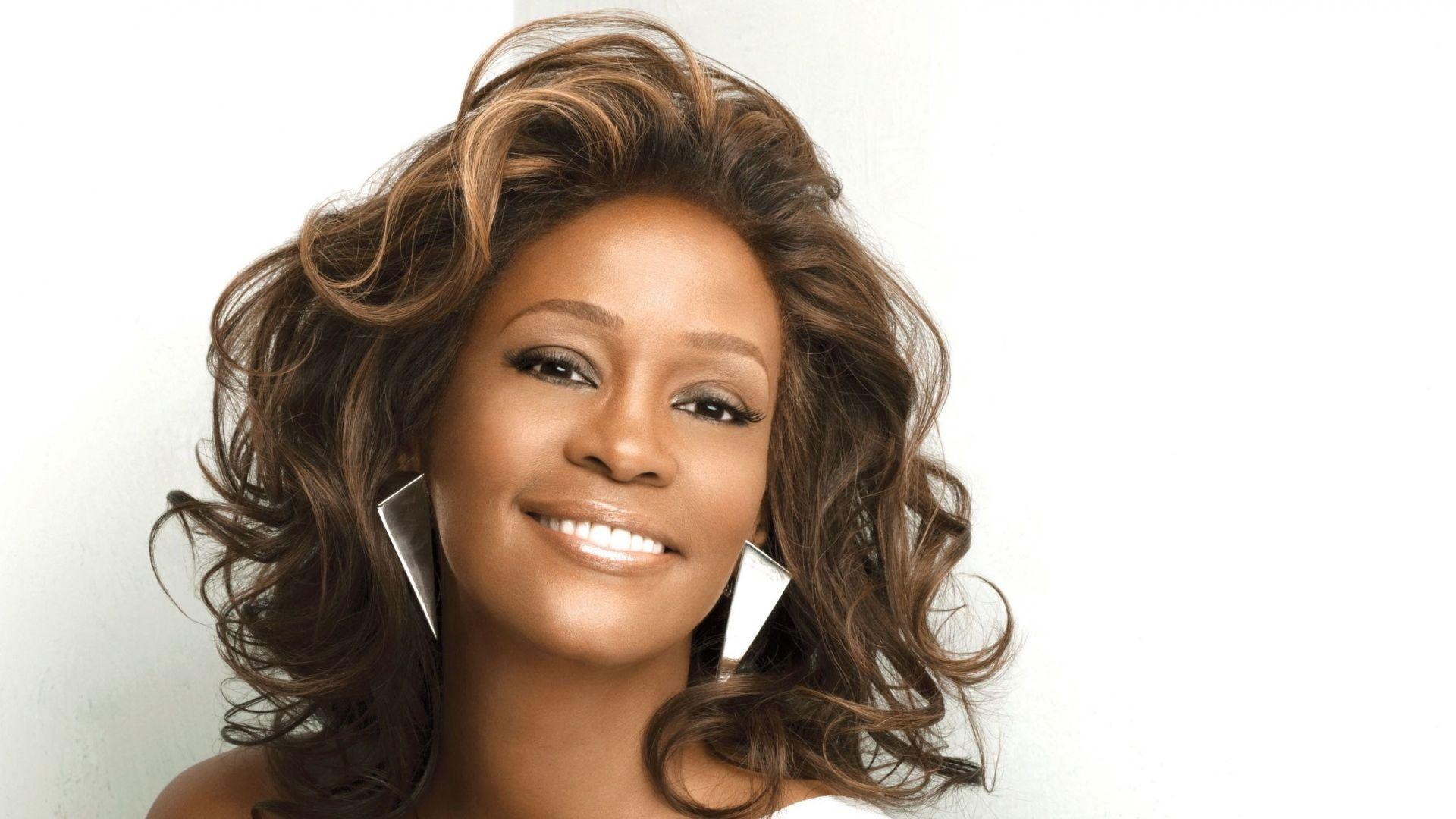 Download Wallpapers 1920x1080 Whitney houston, Singer, Single