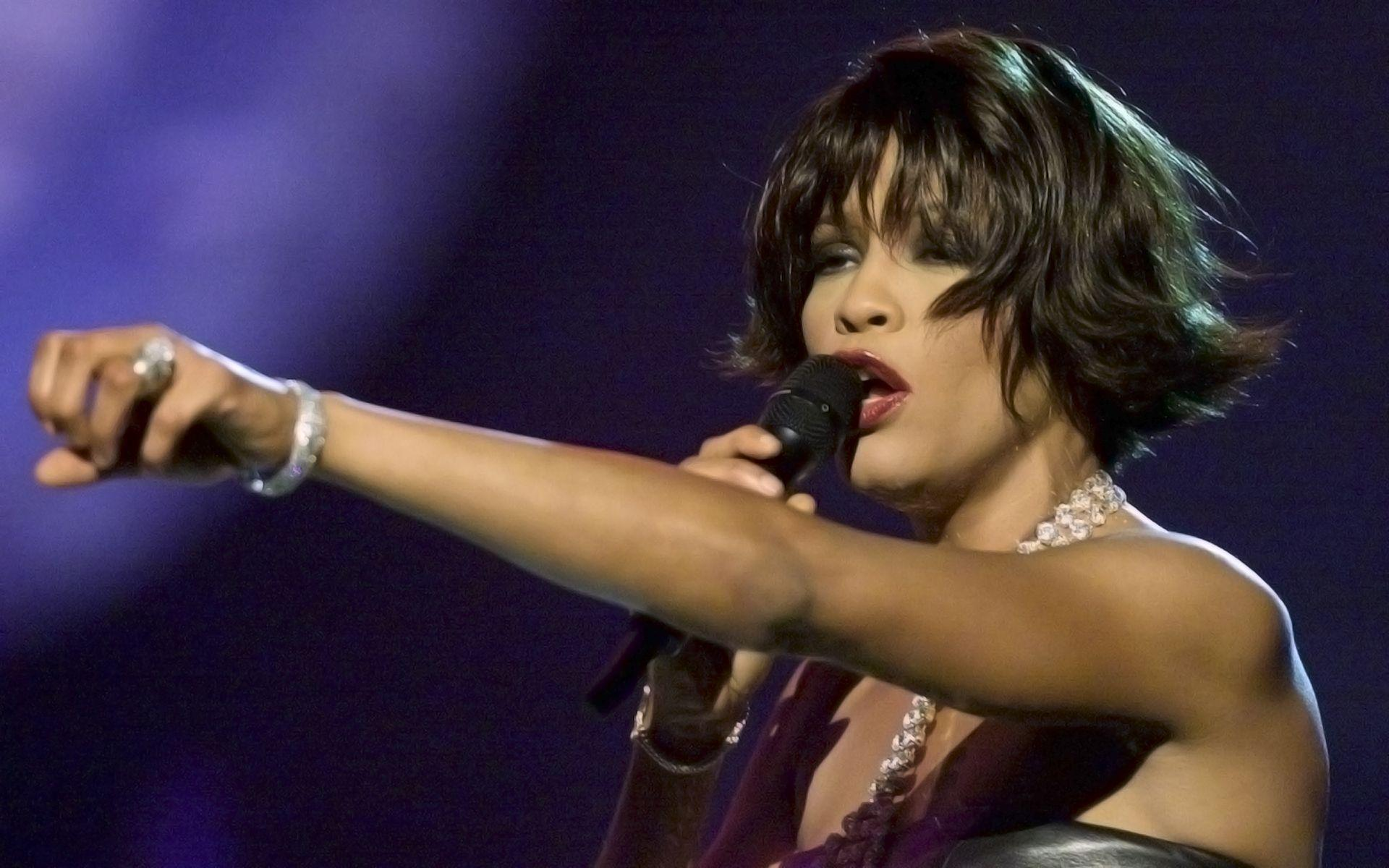 Whitney Houston Singing widescreen wallpapers