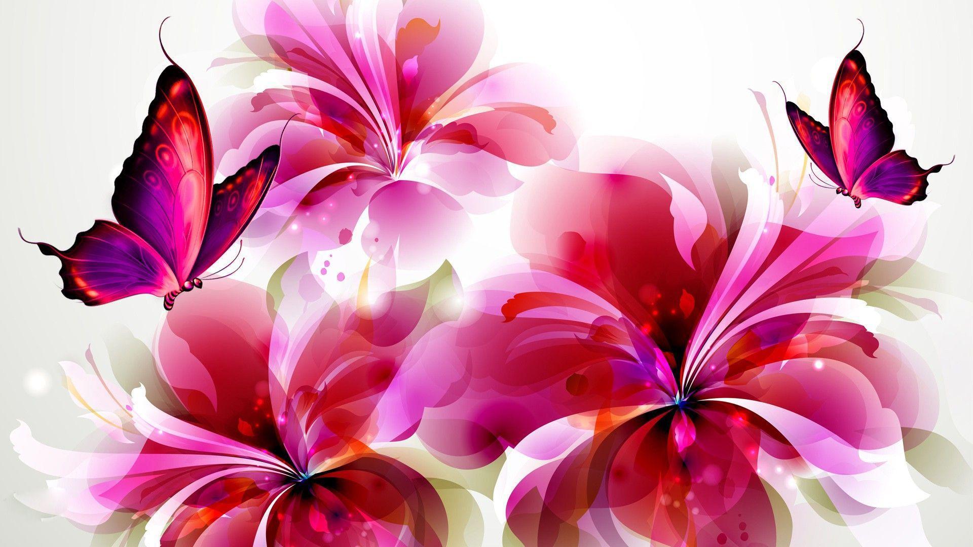 Wallpaper Flowers and Butterflies | Flowers and butterflies HD ...