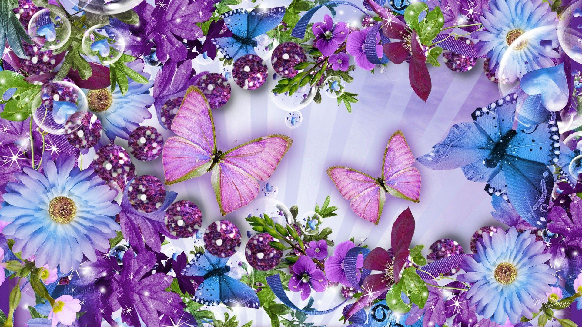 Butterflies And Flowers Wallpapers