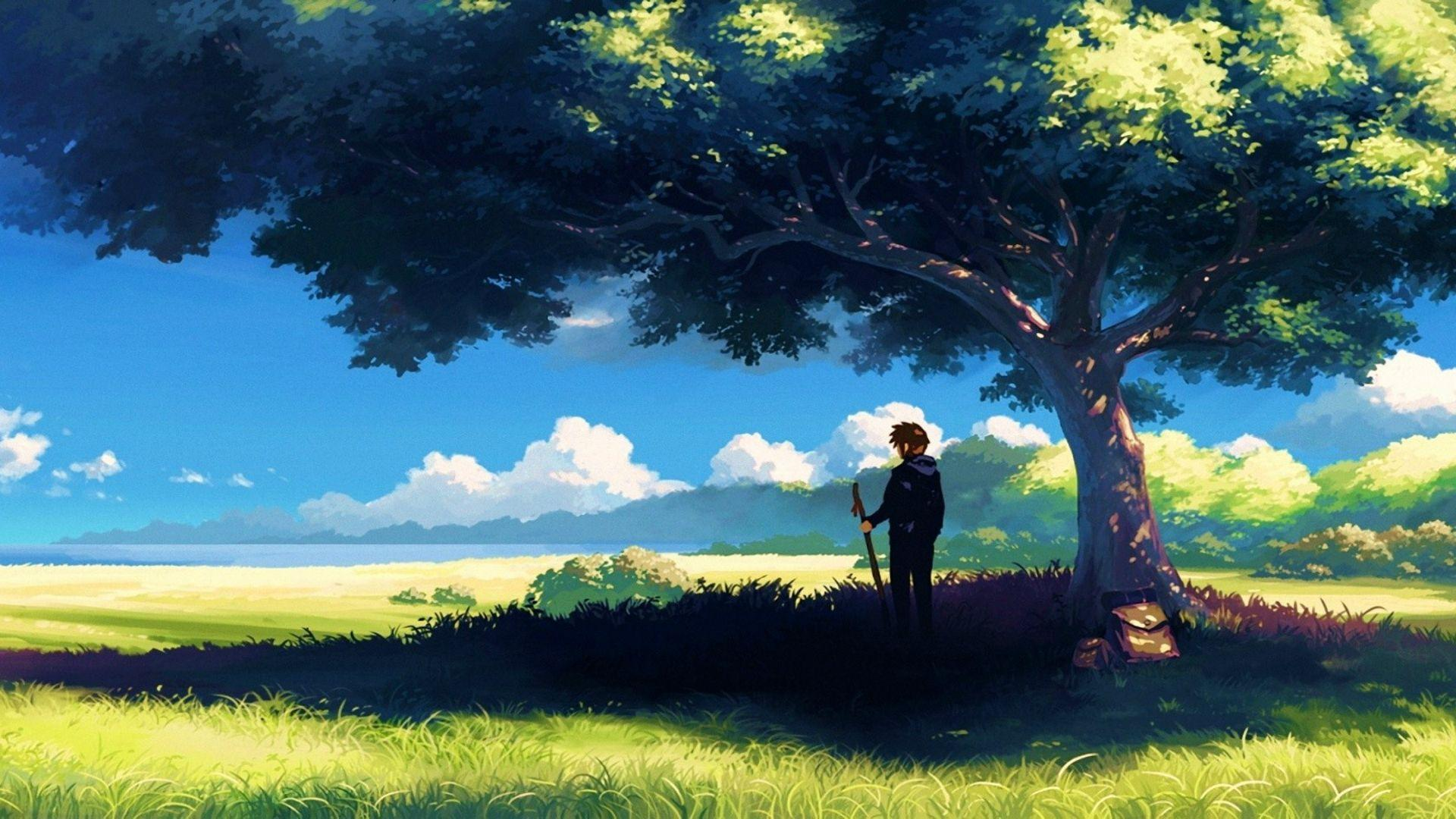 Anime Landscape Wallpapers - Wallpaper Cave