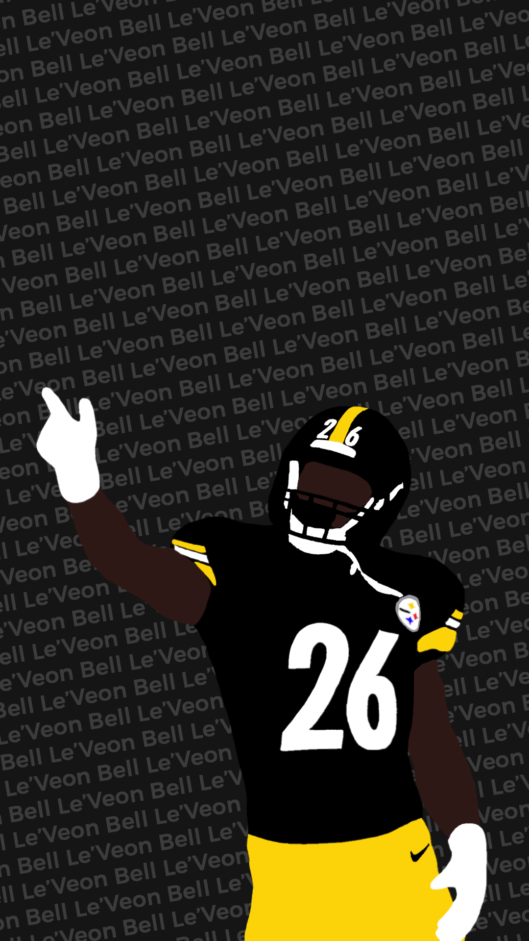 I made another wallpaper, this one with Le'Veon Bell : steelers