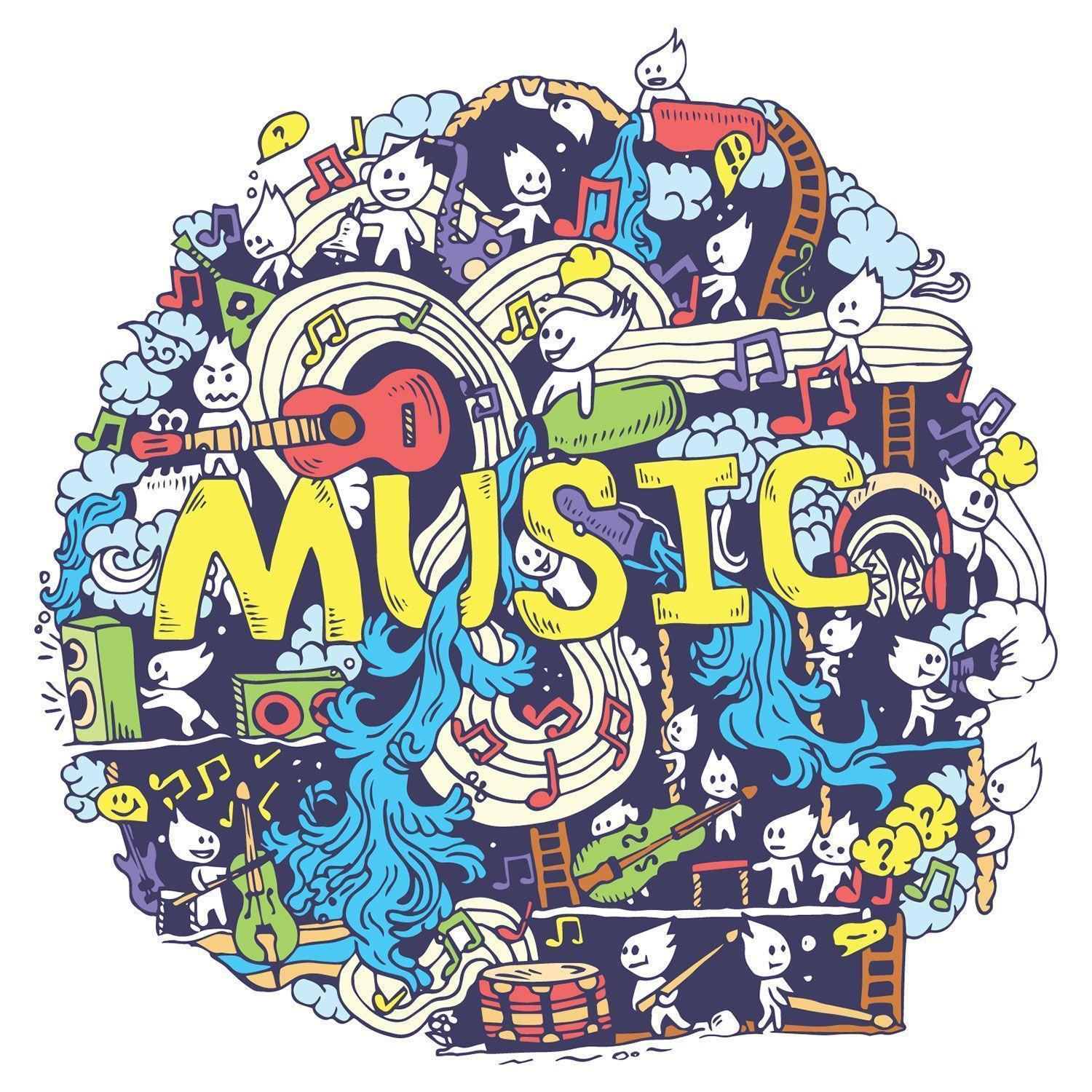 Music Doodle Wallpapers for Decor