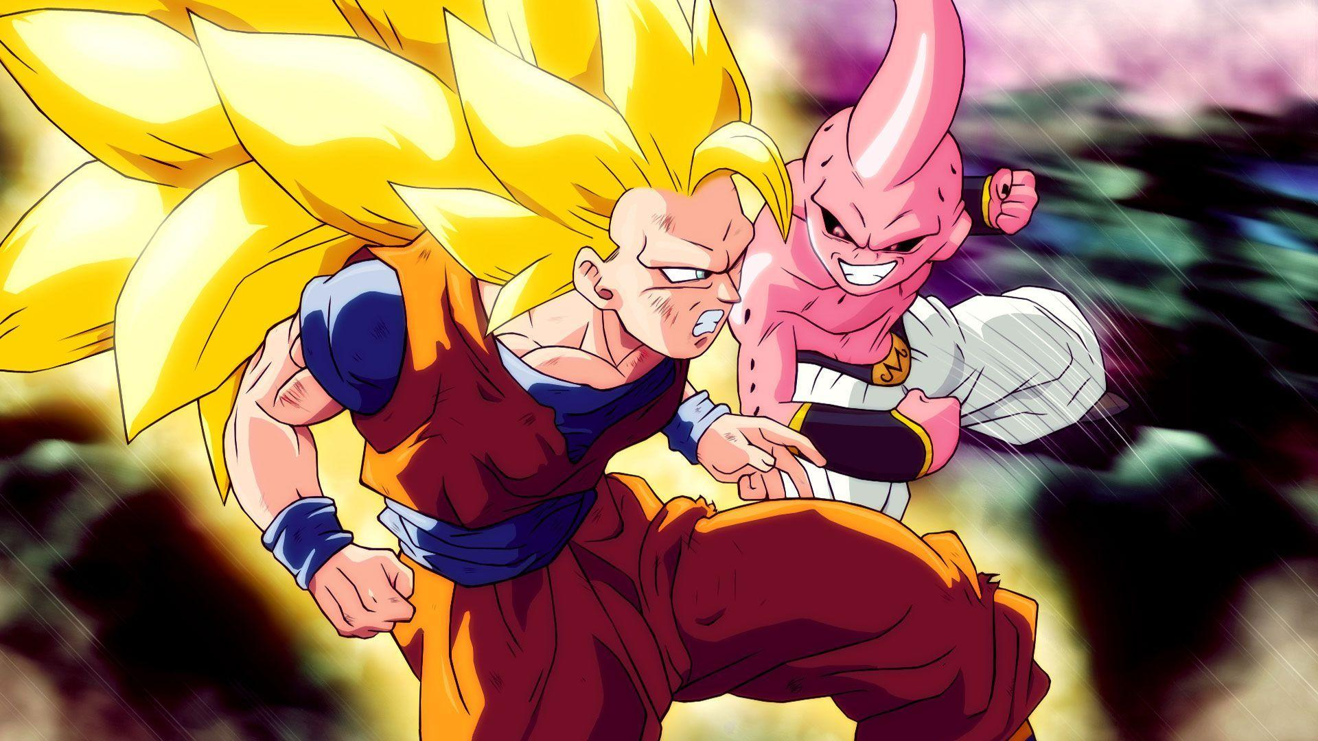 Goku Super Saiyan 3 vs Kid Buu
