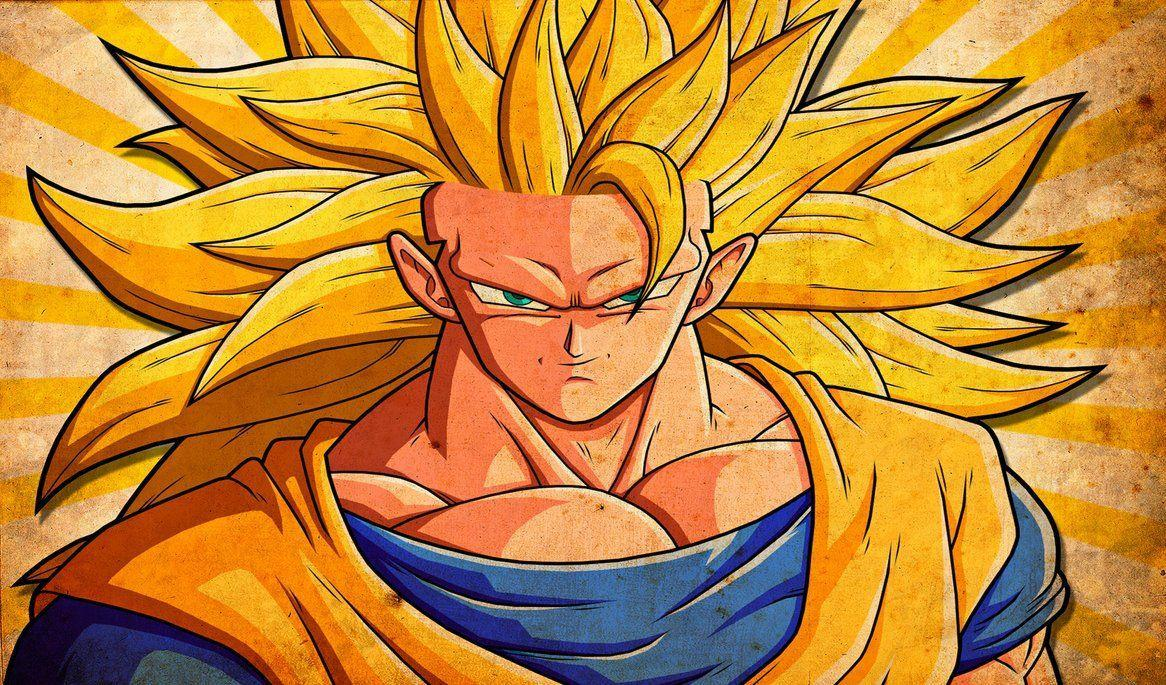 Goku SSJ 3 Grunge Wallpapers by alanfernandoflores01