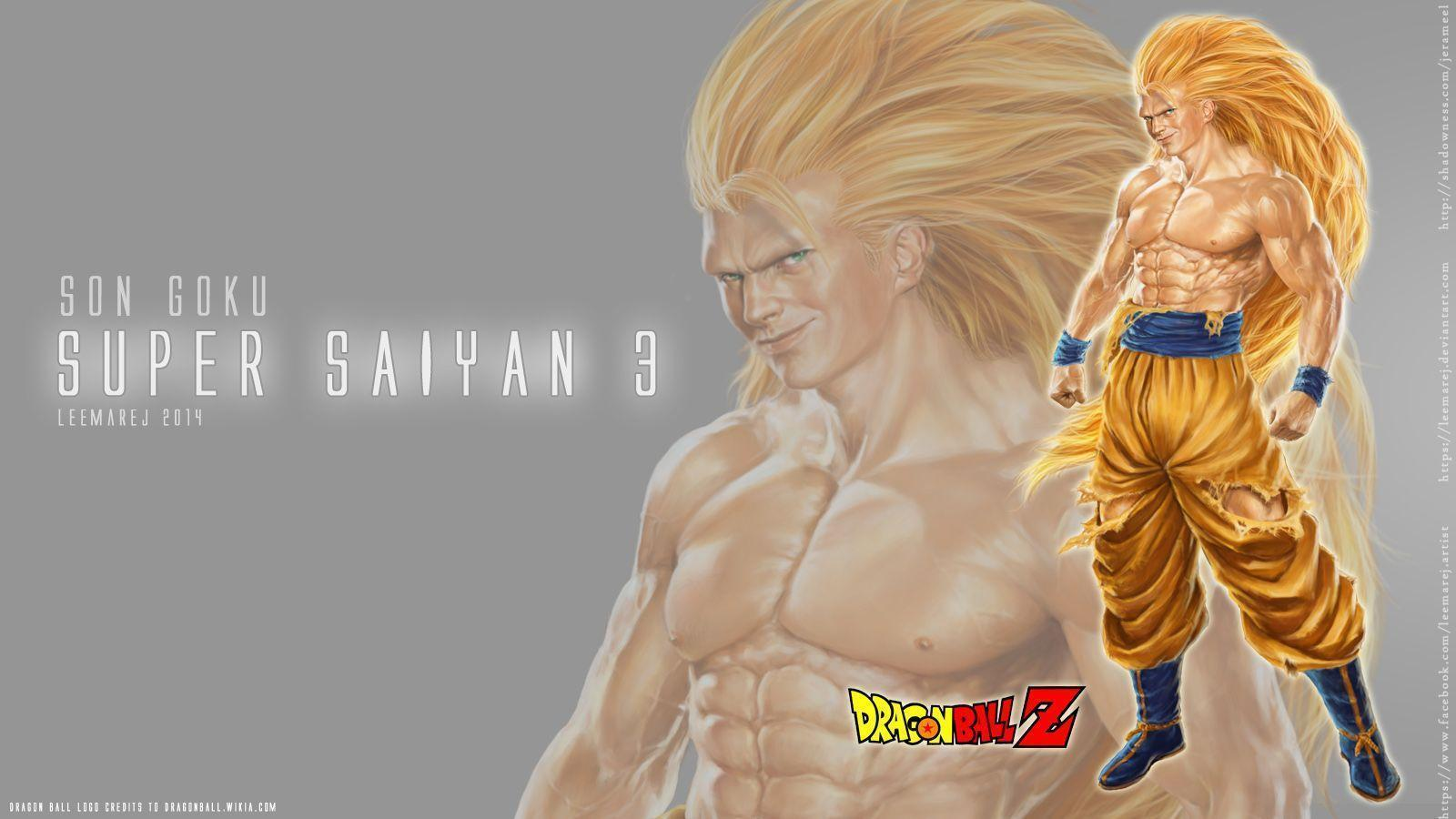 real Goku Super Saiyan 3 Desktop Wallpapers by leemarej