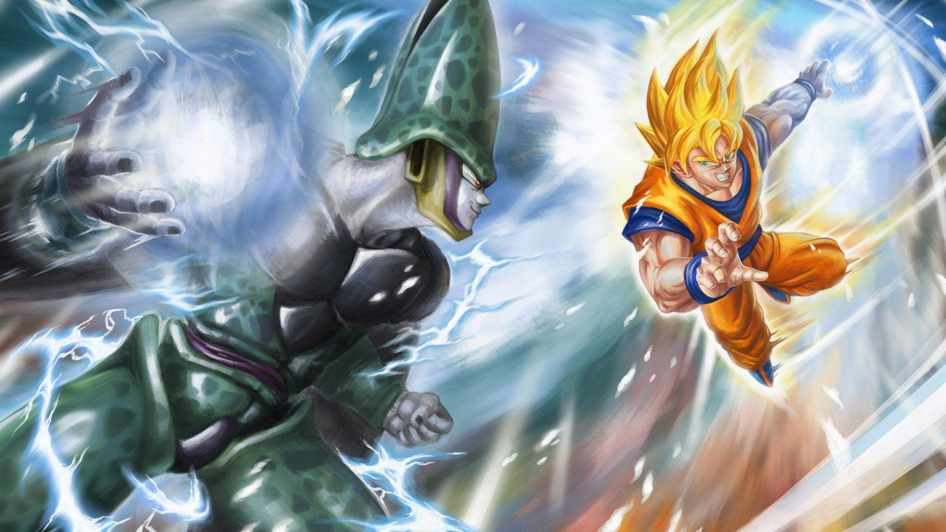 Dragon Ball Son Goku Super Saiyan Cell Perfect Wallpapers
