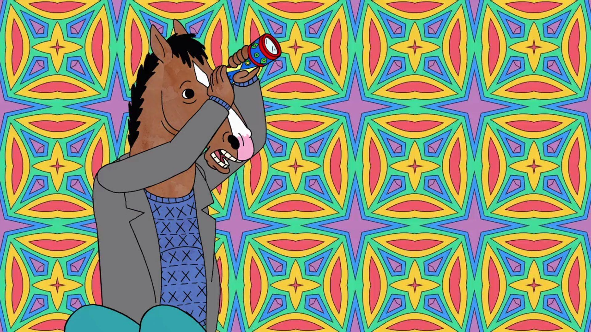 When Diane gives Bojack a kaleidoscope to entertain him while