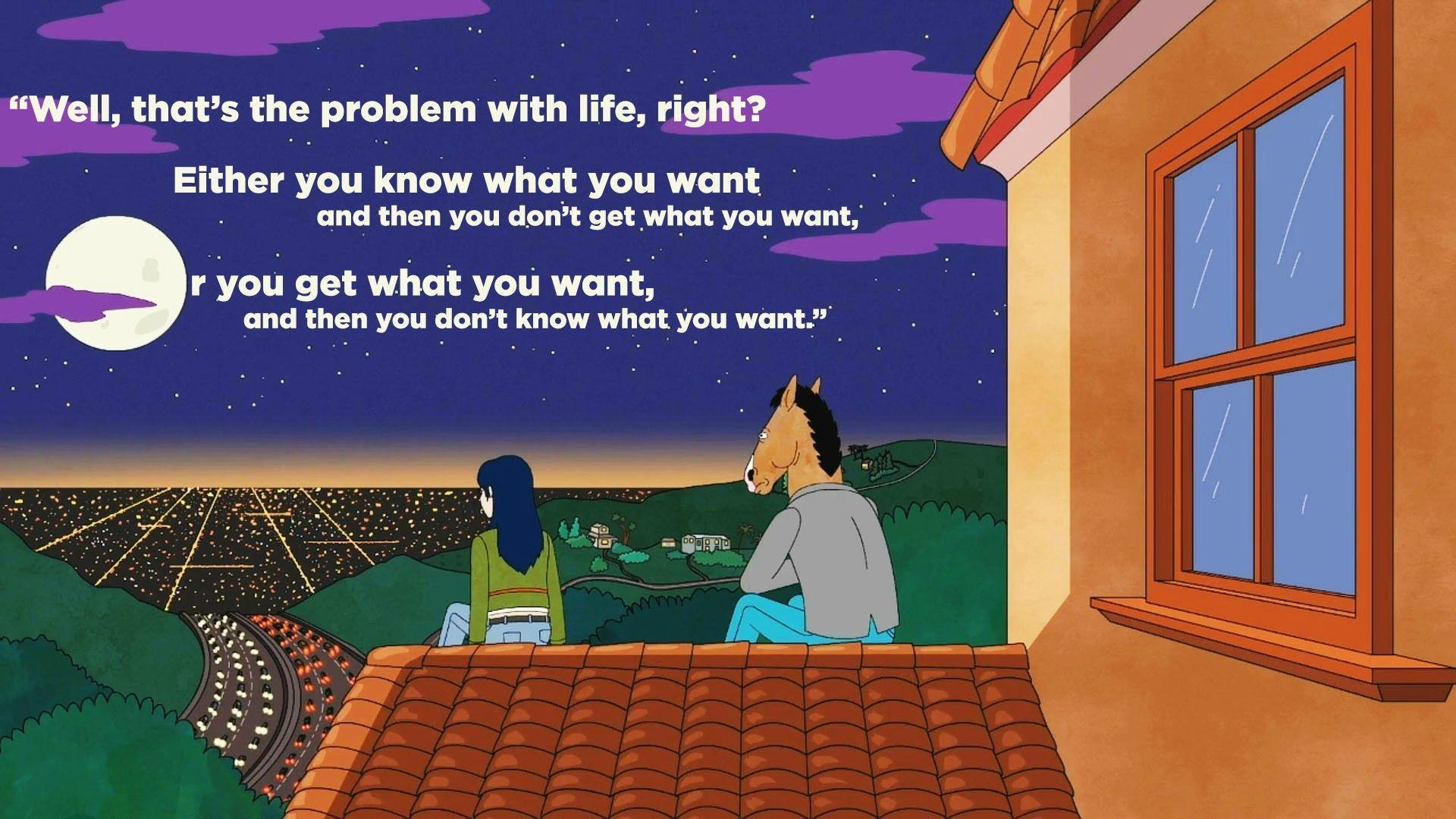 bojack horseman quotes wallpapers