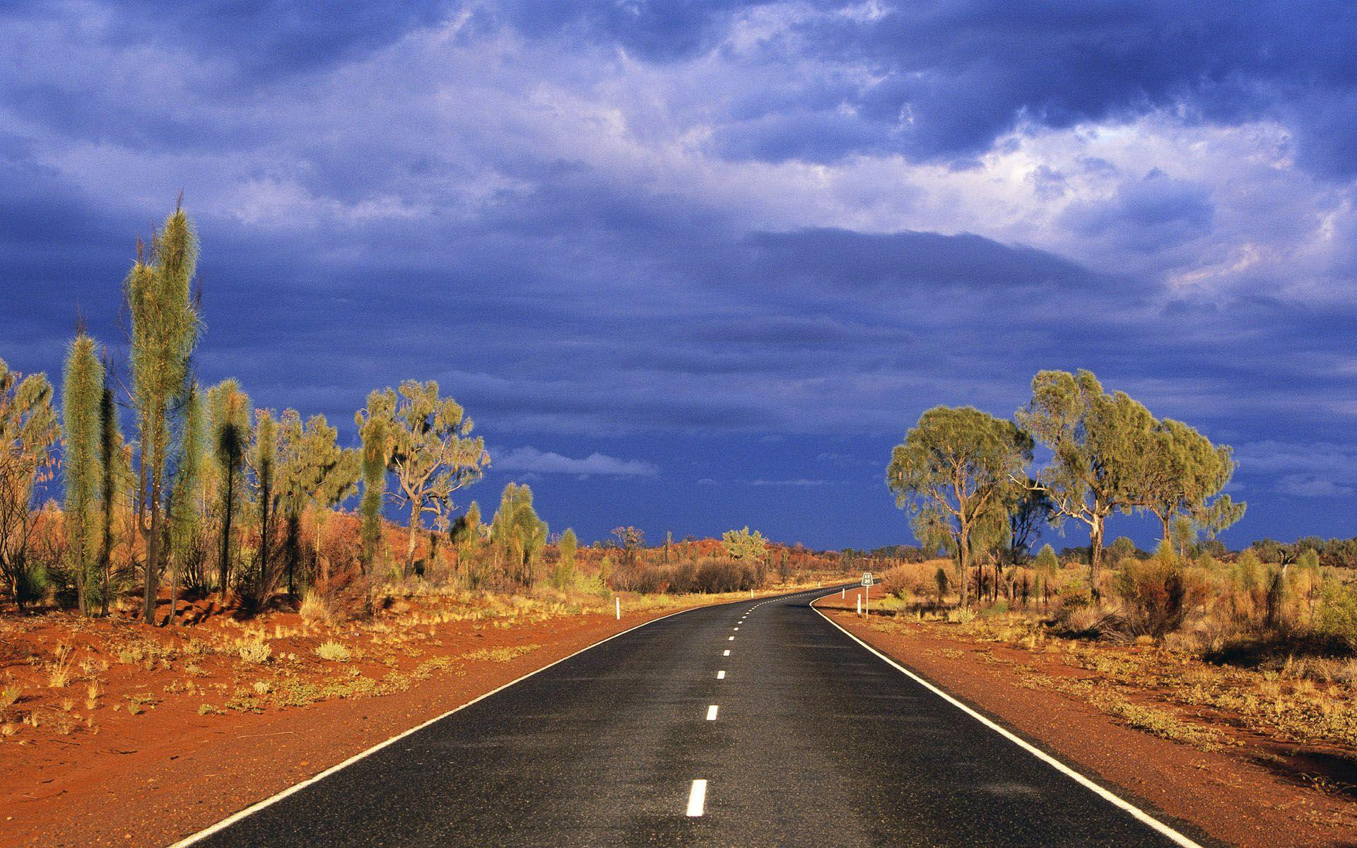 The road through the wilderness wallpapers and images - wallpapers ...
