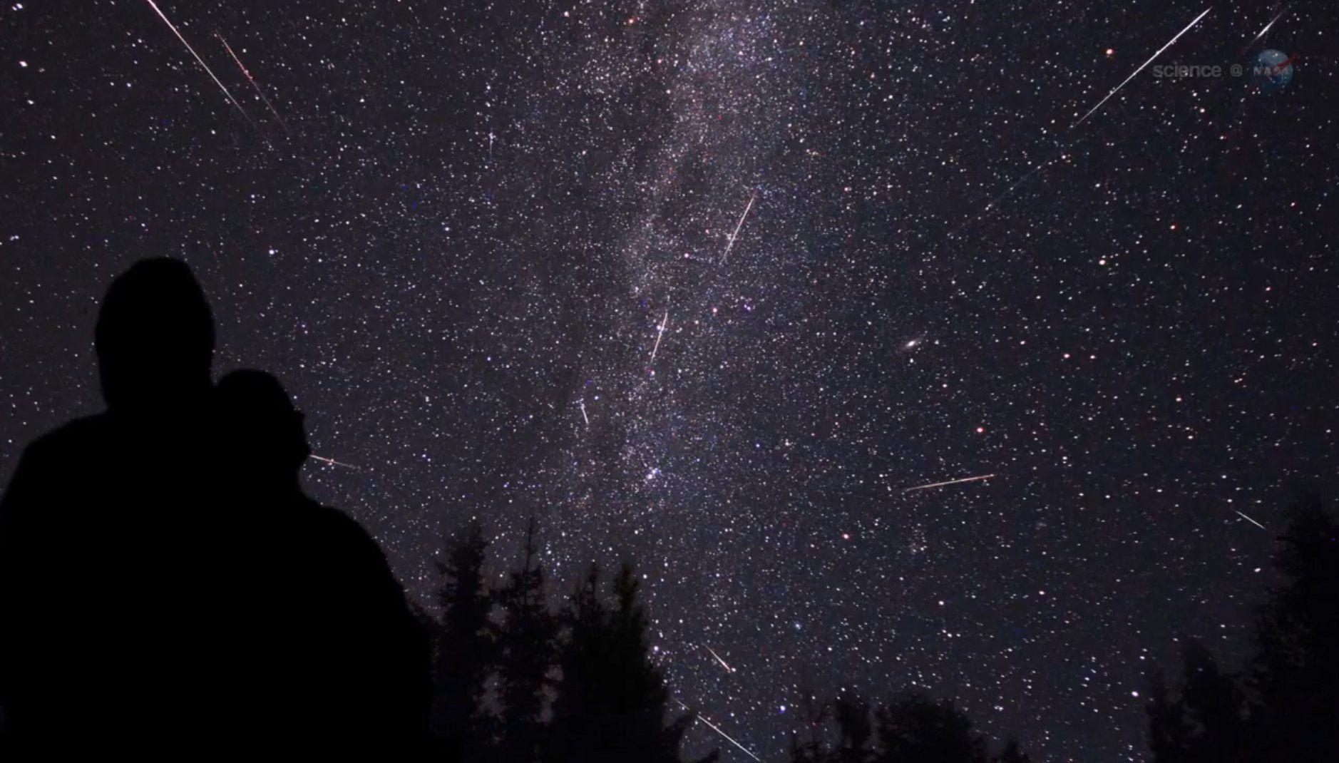 Perseid Meteor Shower - wallpaper.