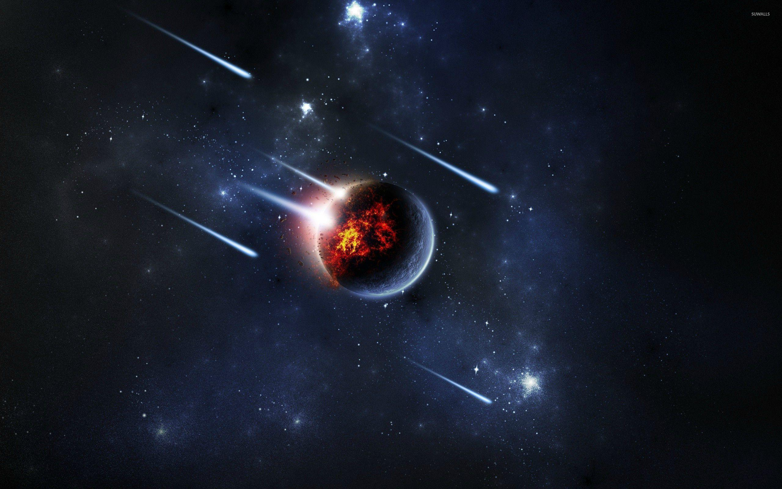 Meteor shower wallpaper - Fantasy wallpapers - #27214