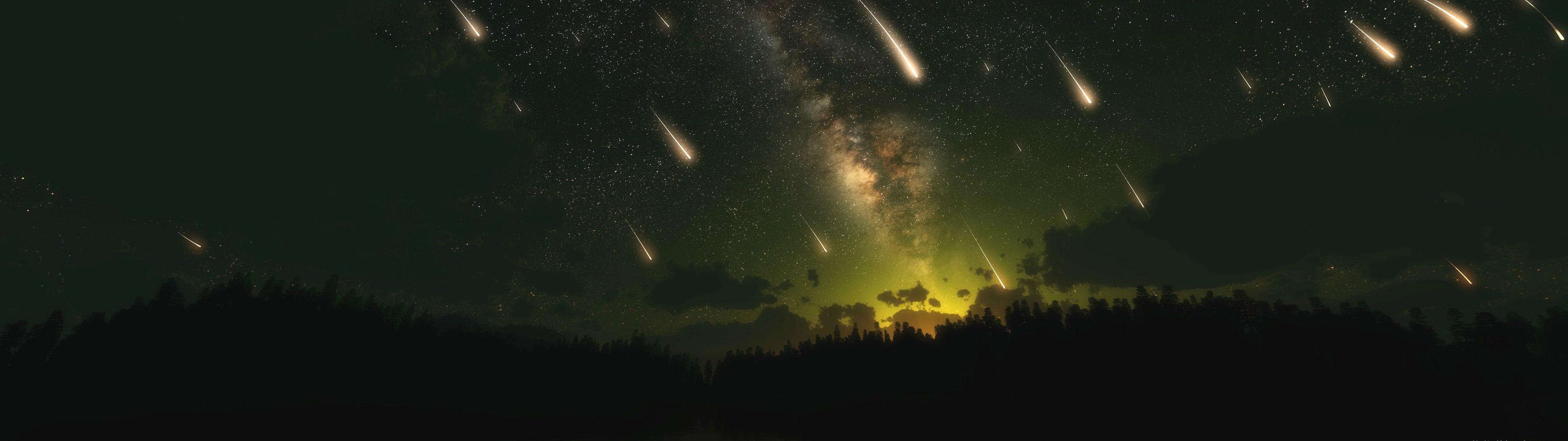 Meteor Shower [3840x1080] : wallpapers