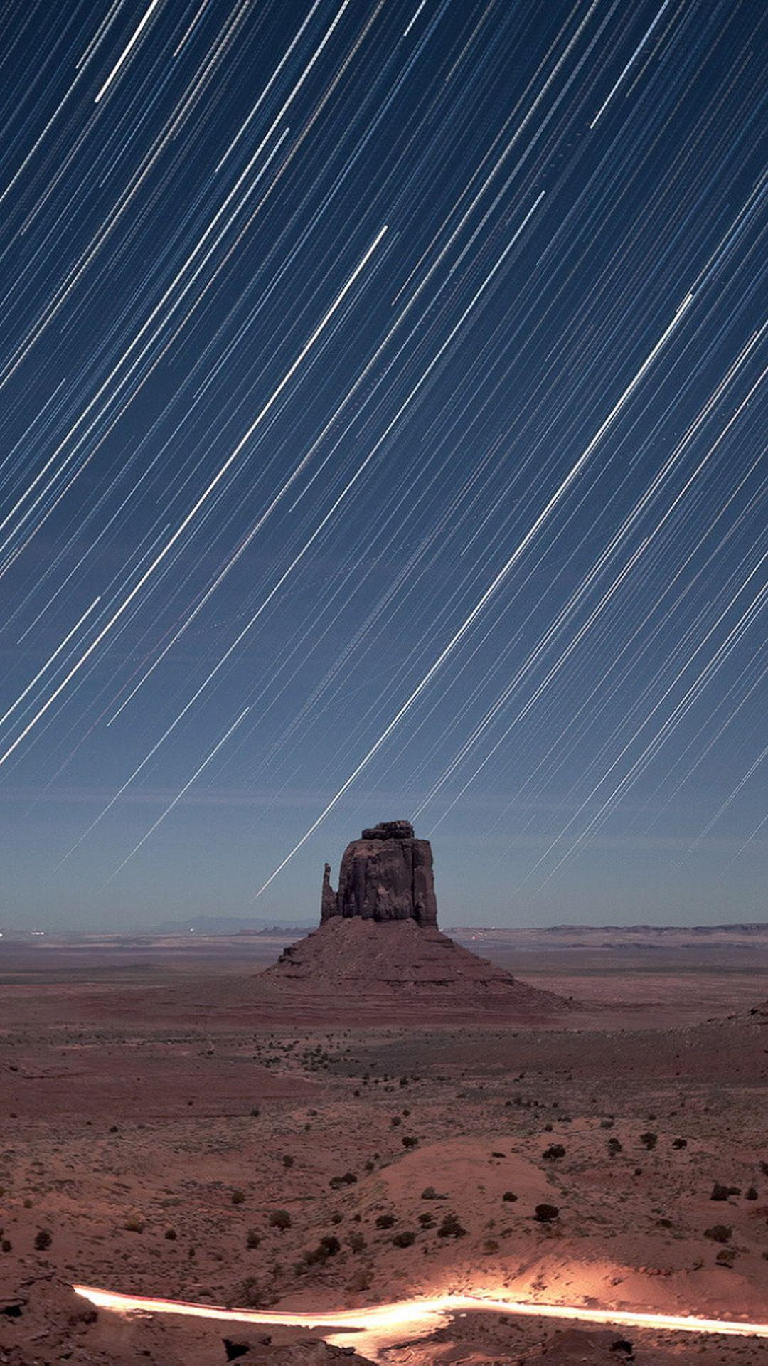 Monument Valley Meteor Shower #iPhone #7 #wallpaper | iPhone 7 ...