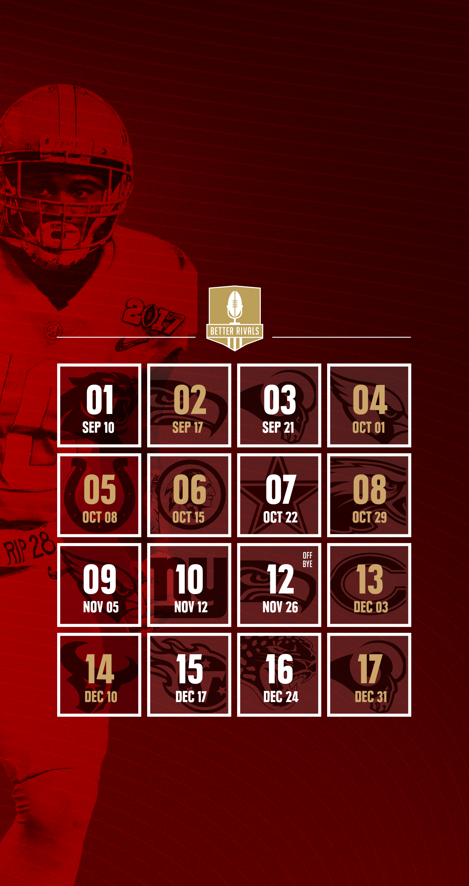 49ers 2017 schedule wallpapers for iPhone, Android, desktop ...