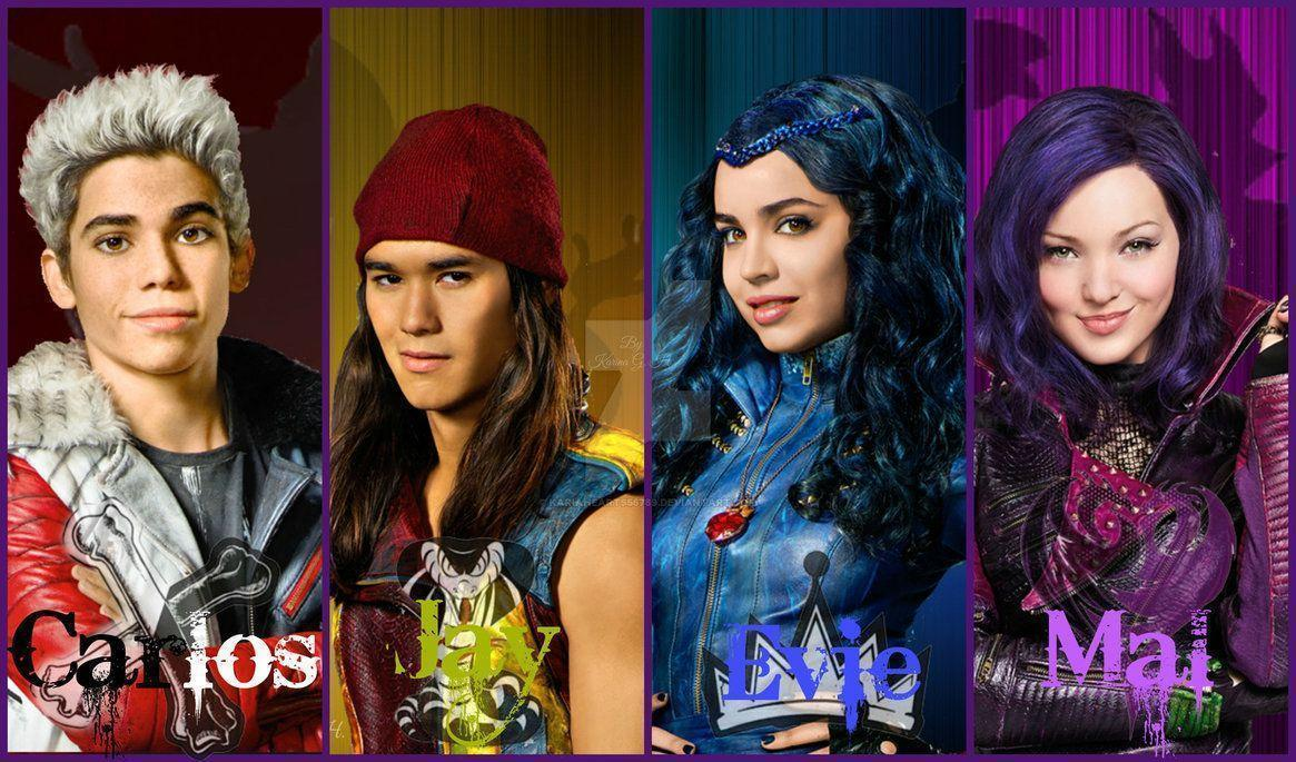 Disney Descendants - Carlos, Jay, Evie and Mal by KariaHearts56789 ...
