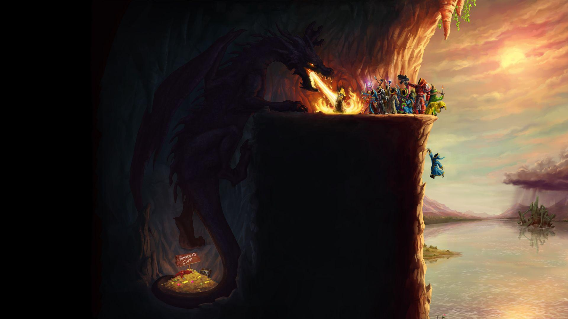 Mage, video games, wings, dragons, fire, tail, artwork, Magicka ...