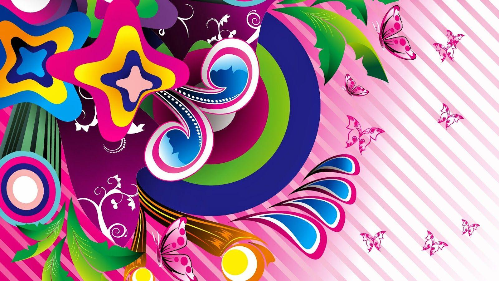 Colorful Butterfly designs background for desktop Abstract HD ...