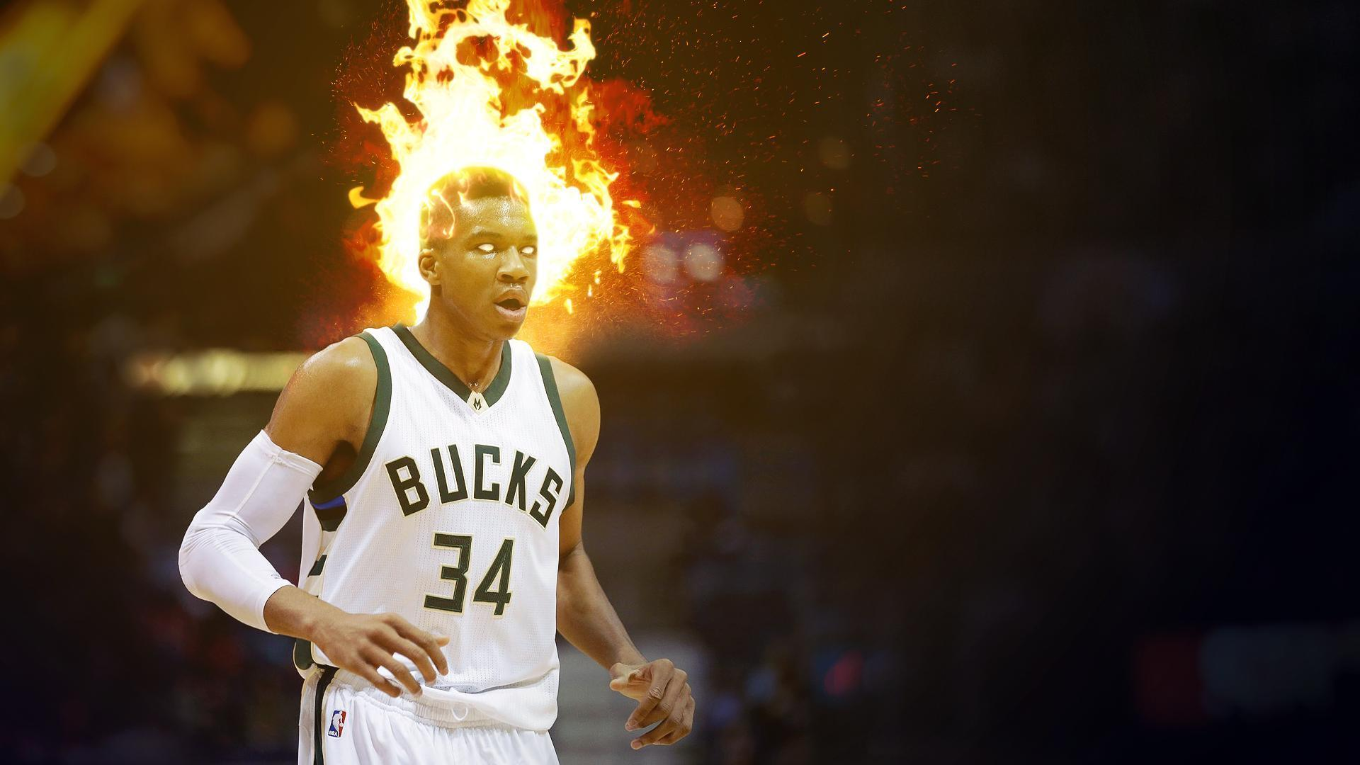 Giannis is on fire! [Wallpaper 1920x1080] : MkeBucks