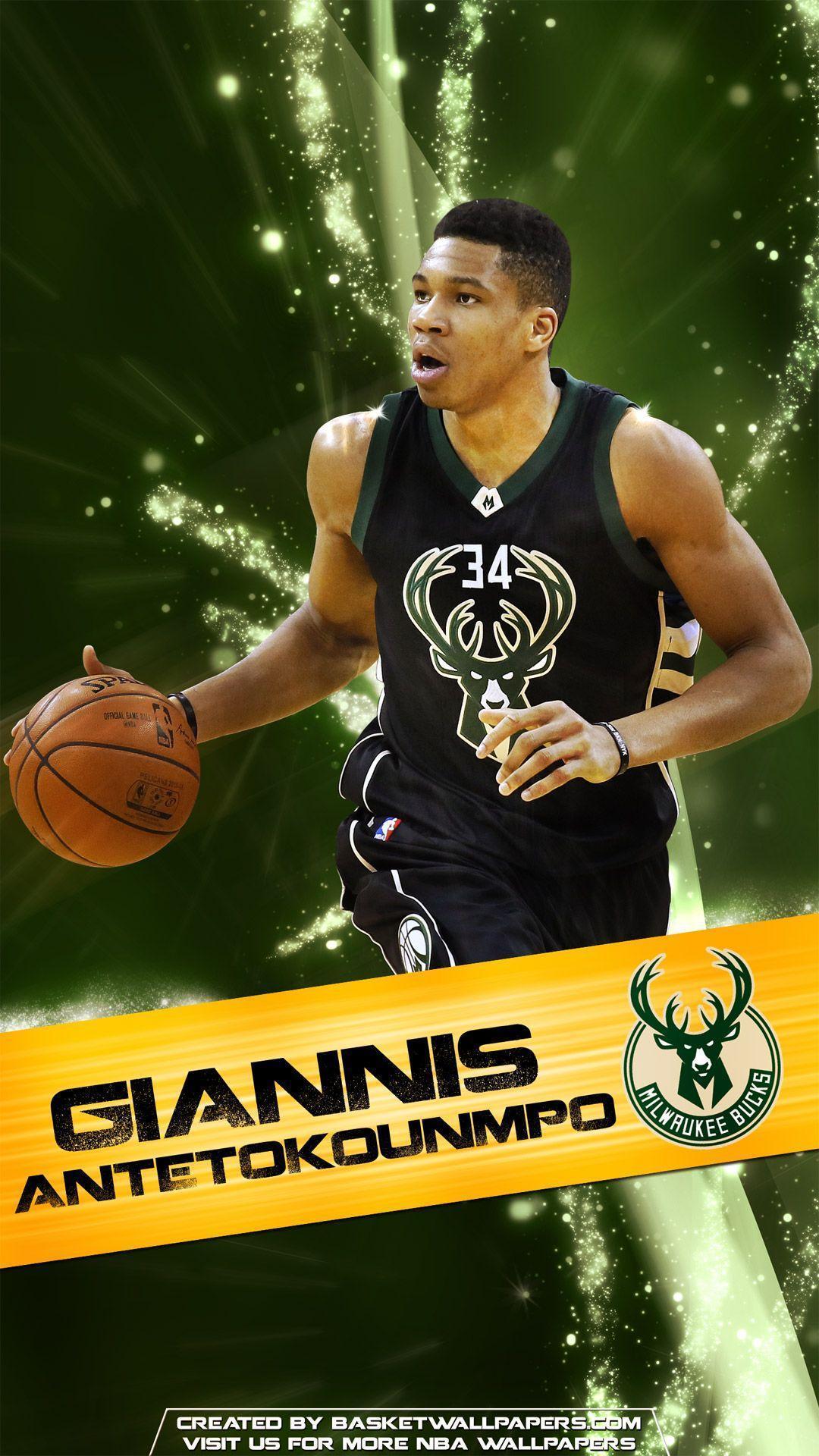 Giannis Antetokounmpo Milwaukee Bucks 2016 Mobile Wallpaper ...