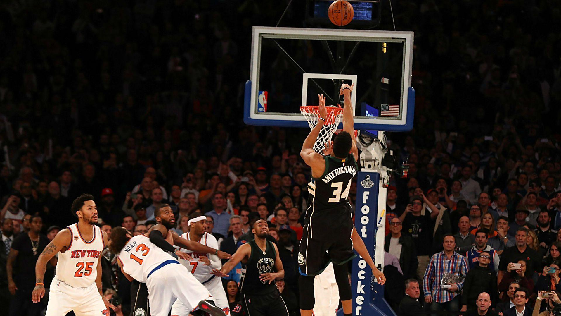 Giannis Antetokounmpo drains game-winner at buzzer, breaks Carmelo ...