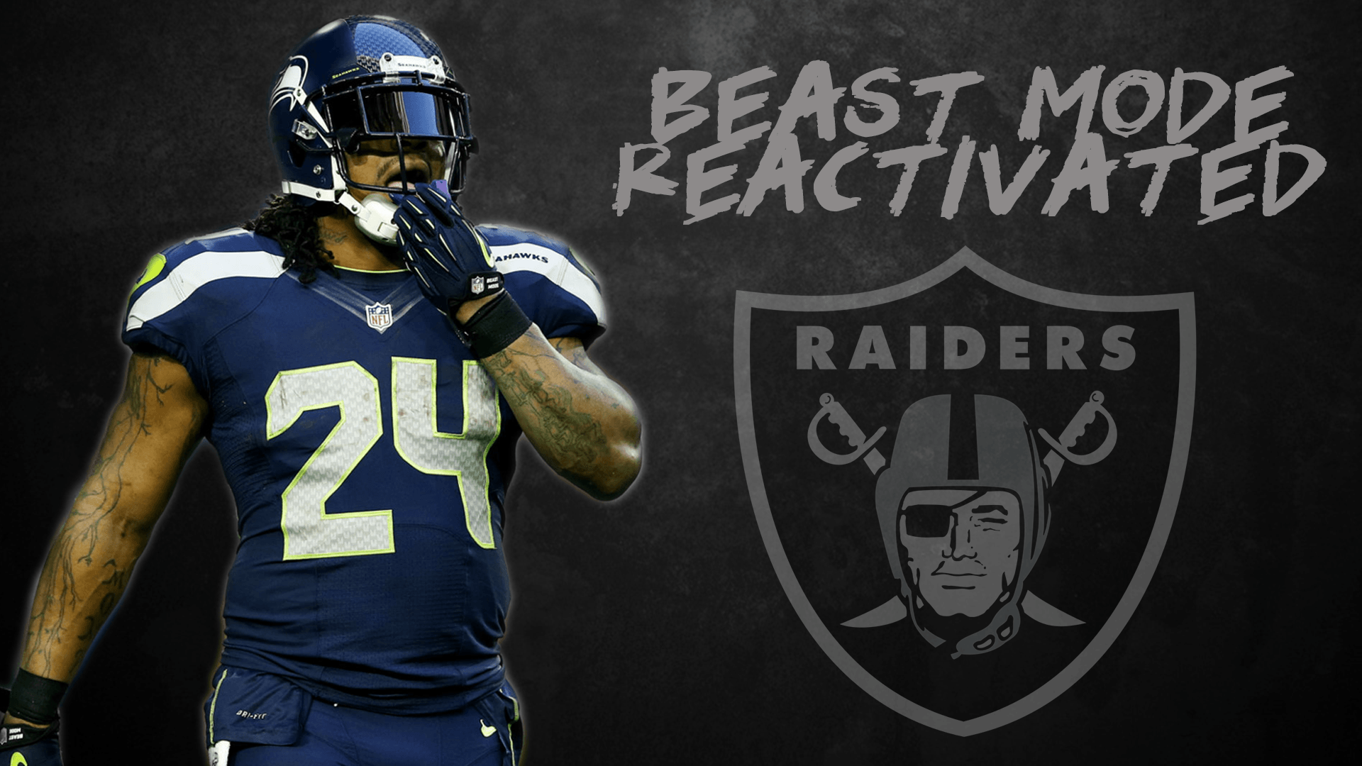 Marshawn Lynch Beast mode Hd wallpaper for download