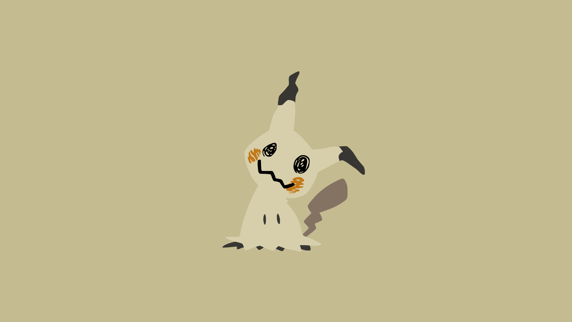 Minimalistic Wallpaper: Mimikyu (#778) by MardGeerT on DeviantArt