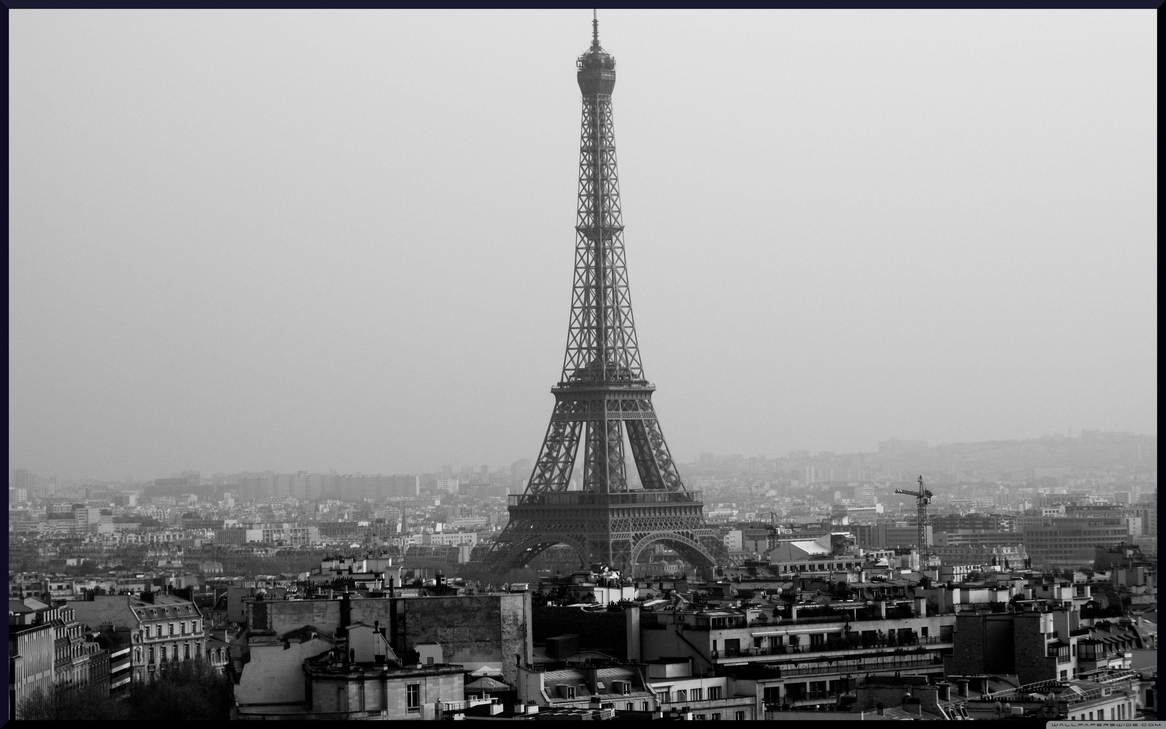 Eiffel Tower Black And White Wallpapers