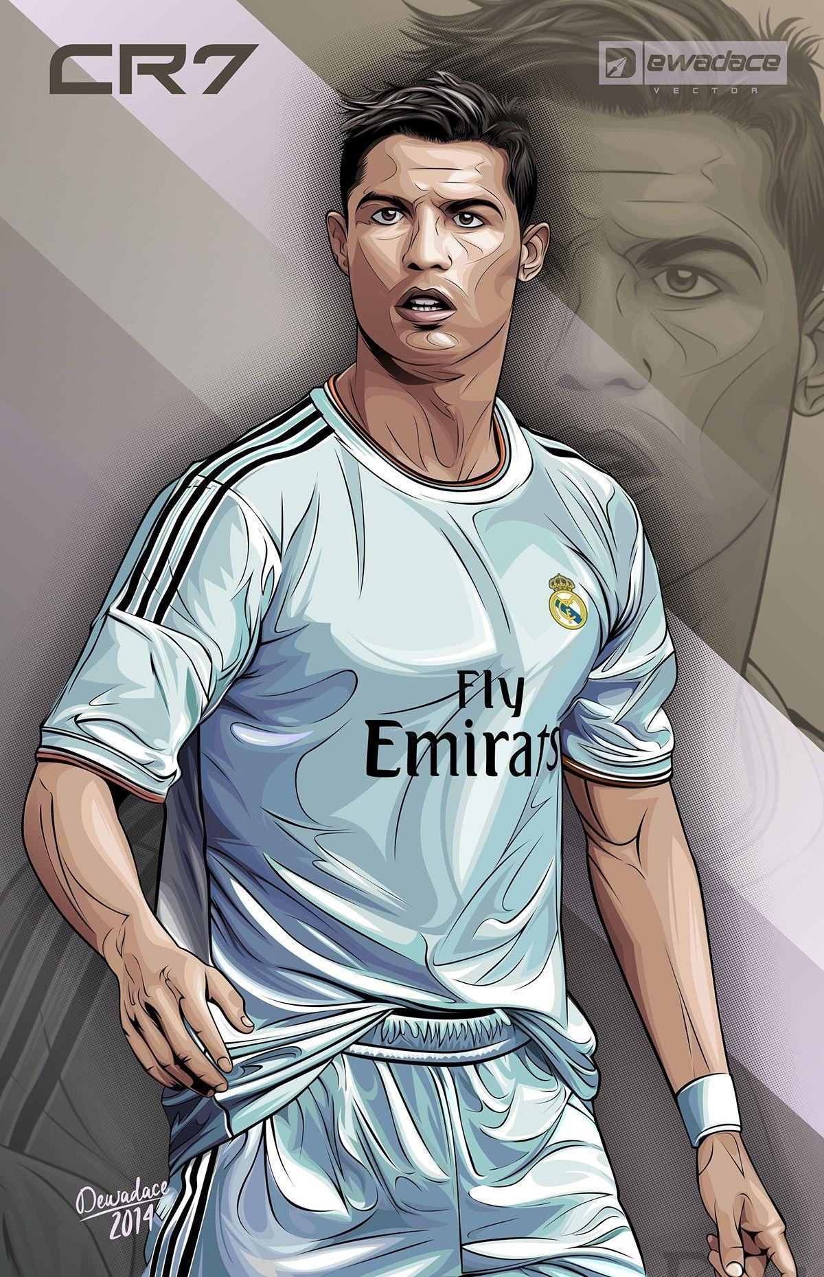 Cristiano Ronaldo Cartoon Wallpaper